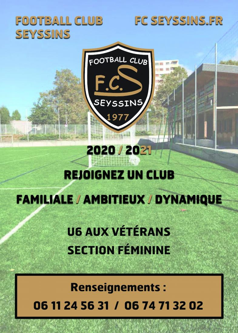 Inscriptions Football club de Seyssins